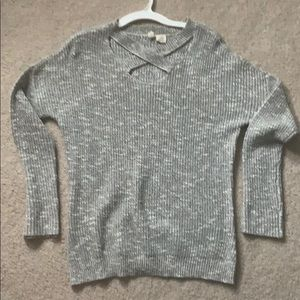 Knit light grey sweater from Tillys